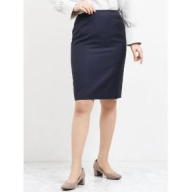 (TAKA-Q/タカキュー)レノマ ファム/renoma FEMME ウォッシャブルセットアップタイトスカート 紺チェック/レディース ネイビー