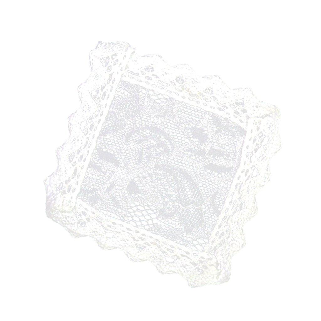 5Pcs Mini Lace Doilies Placemats Small Tablecloths for 1:12 Dollhouse Decor