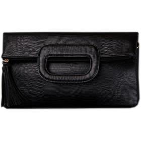 [韓国ブランド ]Korea Brand 韓国ファッション 女性Betywaクラッチ バッグ (Korea Fashion Women Betywa Clutch Bag Black) ブラック [並行輸入品]