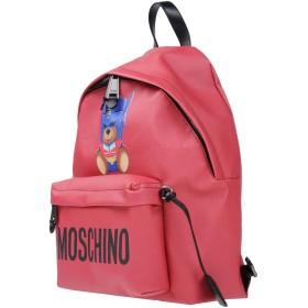 《期間限定セール開催中!》MOSCHINO レディース バックパック&ヒップバッグ レッド 紡績繊維 革