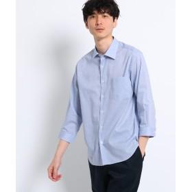 TAKEO KIKUCHI(タケオキクチ) コットン ドビー 七分袖 シャツ