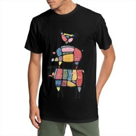 鶏 豚 牛 部位 通気性 メンズ Tシャツ半袖シャツ3D印刷 マシュメロ ネオン 夏の流れの男性の半袖tシャツ