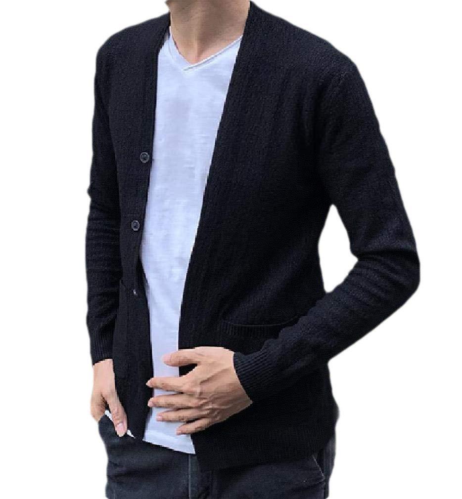 cheelot Men Plus Size Keeping Warm Outwear Loose Fit Long Jacket Windbreakers