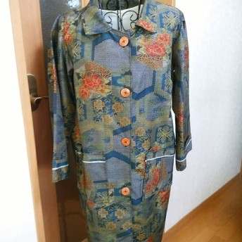 着物リメイク 村山大島紬のコート