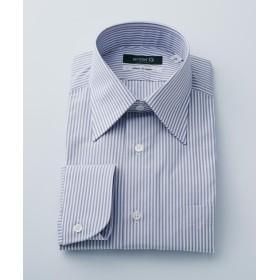 【50%OFF】 エンタージー グレーロンドンストライプシャツ メンズ ライトグレー系1 40 【enter G】 【セール開催中】