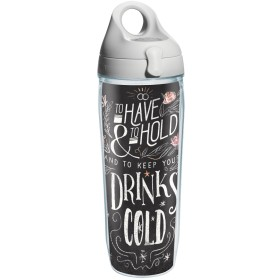 Tervis 1211333Have and Hold Keepコールドラップウォーターボトルグレー水バス蓋、24オンス、クリア