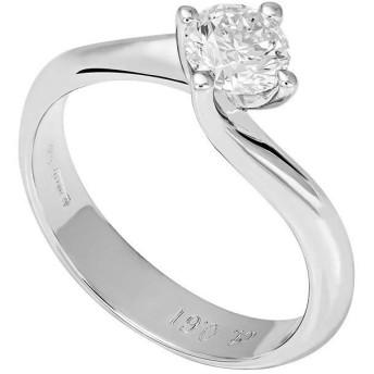 WORLD DIAMOND GROUP ANELLO SOLITARIO ORO BIANCO 18KT BRILLANTE 0,40CT AB1625-040-B