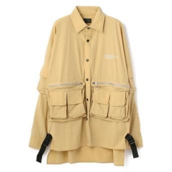 (LHP/エルエイチピー)DankeSchon/ダンケシェーン/ストレッチナイロンカーゴシャツ/メンズ BEIGE 送料無料