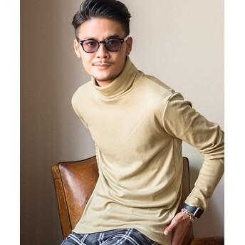シルバーバレット CavariAスムースタートルネック×ハイネック長袖Tシャツ メンズ ベージュ 46(L) 【SILVER BULLET】