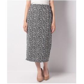 DAISY MERRY レオパードナロータイトスカート(ブラック)
