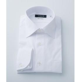 [マルイ]【セール】【日本製】白ドビーストライプシャツ/オンワード ジェイ ブリッジ(ONWARD J BRIDGE)