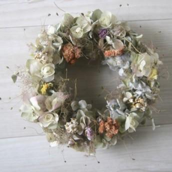 Smoke tree antique wreath dryflower