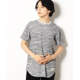 (COMME CA ISM/コムサイズム)ワッフル ロング Tシャツ/ユニセックス チャコール