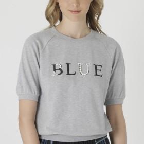 [マルイ] ビジューロゴスウェット/ブルーレーベル・クレストブリッジ(BLUE LABEL CRESTBRIDGE)