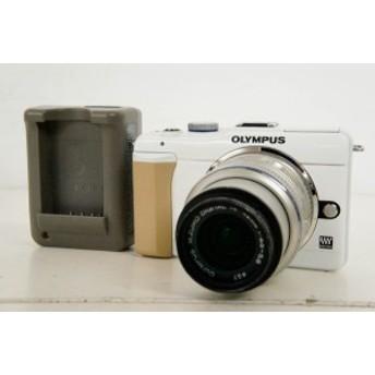 【中古】OLYMPUSオリンパス ミラーレス一眼 PEN Lite E-PL1s ホワイト レンズキット 1230万画素 デジタルカメラ