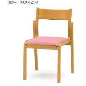 ダイニングチェア スタッキングチェア 積み重ね 背付 病院 学校 福祉施設 激安 合成皮革 ミーティングチェア 椅子 木製 PVCレザー 施設 木製 FKB-4L