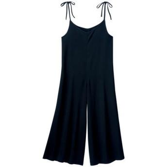 60%OFF【レディース】 肩リボンオールインワン - セシール ■カラー:ブラック ■サイズ:S,M,L