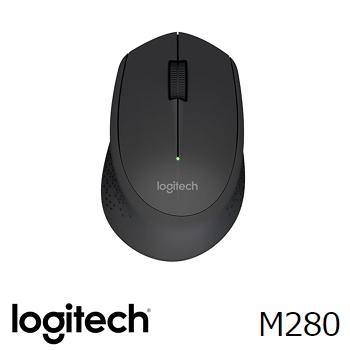 羅技Logitech M280無線滑鼠 黑(910-004298)