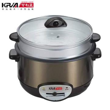 【KRIA可利亞】4.5L金玉滿堂蒸煮電火鍋(KR-838)