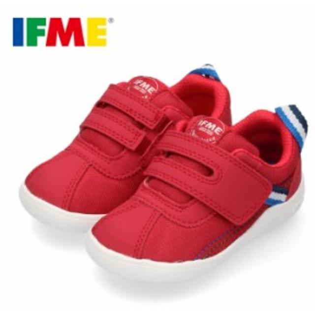 【還元祭クーポン対象】スニーカー イフミー ベビー IFME Light シューズ 22-9702 RED レッド キッズ 子供靴 ベルト ベルクロ 軽量
