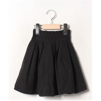 b-ROOM タックプリーツ2WAYスカート(ブラック)