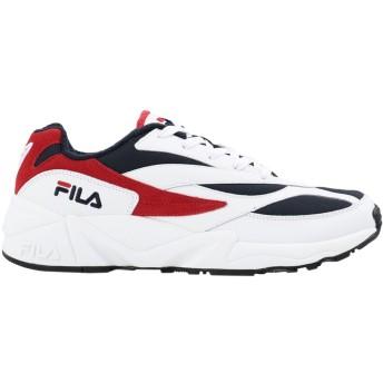 《セール開催中》FILA HERITAGE メンズ スニーカー&テニスシューズ(ローカット) ホワイト 7.5 革 / 紡績繊維 DSTR97 L