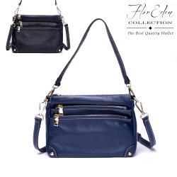 Flor Eden - 經典都會時尚真皮可拆式提背帶女性小方包-共2色