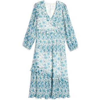 《セール開催中》TOPSHOP レディース 7分丈ワンピース・ドレス ホワイト 6 ポリエステル 100% FLORAL PLEAT MIDAXI DRESS