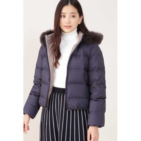 ◆リバーシブルフードコート ネイビー
