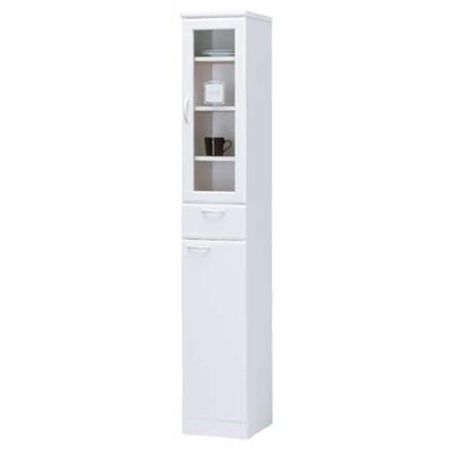 ★soldout★ 食器棚 29cm キッチンキャビネット キッチン収納 カップボード スリム ホワイト 収納 引出し 戸棚 キッチンボード キャビネット LCF-1830DGH