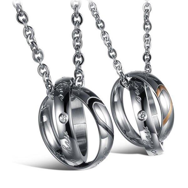 Mao【5折超值價】 情人節禮物新款首飾精美愛心鈦鋼情侶項鏈