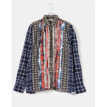 URBS(ユーアールビーエス) トップス シャツ・ブラウス Needles Flannel Shirt(wide rib.)【送料無料】