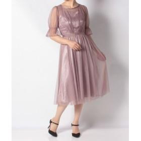 (Rewde/ルゥデ)ラメチュール入りドレス(9R04-A1825)/レディース ラベンダー