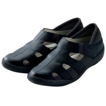 カジュアルシューズ(パンジー)(吸汗速乾・軽量) - セシール ■カラー:ブラック ■サイズ:22cm