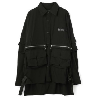 (LHP/エルエイチピー)DankeSchon/ダンケシェーン/ストレッチナイロンカーゴシャツ/メンズ BLACK 送料無料