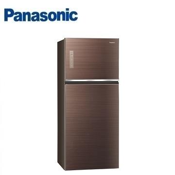 國際牌Panasonic 422公升 玻璃雙門變頻冰箱(NR-B429TG-T(翡翠棕))