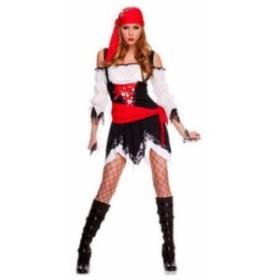 送料無料 ハロウィン コスチューム コスプレ 仮装 レディース 海賊 パイレーツ 魔女 学園祭 水軍