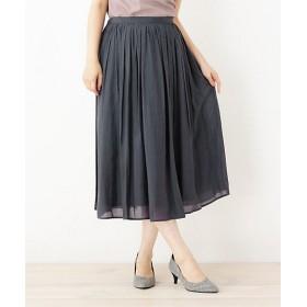 【SALE(三越)】<SOUP> INNOWAVE シルキーローンギャザースカート(2001579546) グレー 【三越・伊勢丹/公式】