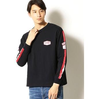 コムサイズム 袖ライン 長袖ビッグTシャツ ユニセックス ブラック S 【COMME CA ISM】
