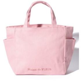(Maison de FLEUR/メゾンドフルール)キャンバスロゴSトートバッグ/レディース ピンク