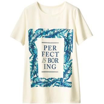 50%OFF【レディース】 プリントTシャツ(半袖) - セシール ■カラー:アイボリホワイト ■サイズ:S
