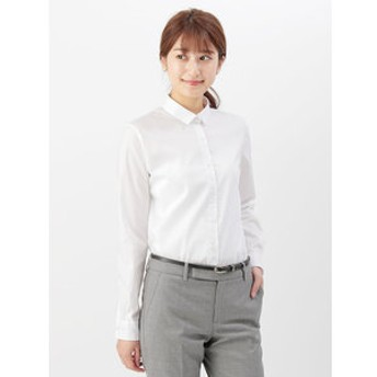 【THE SUIT COMPANY:トップス】【destyle】Easy Care Stretch Blouse パールボタン&レギュラーカラー
