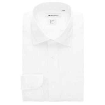 【THE SUIT COMPANY:トップス】【3BLOCK SHIRT】ワイドカラードレスシャツ 織柄 〔EC・FIT〕