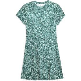 《期間限定セール開催中!》TOPSHOP レディース ミニワンピース&ドレス ダークグリーン 6 ポリエステル 91% / ポリウレタン 9% DITSY GREEN MESH TEA DRESS