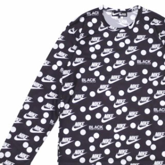 (2019新作)ブラック コムデギャルソン BLACK COMME des GARCONS x ナイキ NIKE LOGO DOT L/S TEE 長袖Tシャツ BLACK ブラック 黒 TOPS