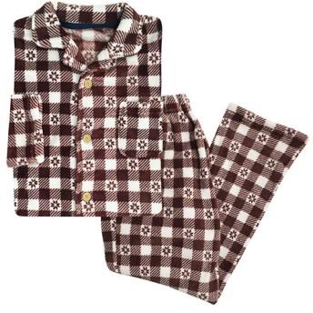 39%OFF【レディース】 シャツパジャマ(男女兼用) - セシール ■カラー:ワイン ■サイズ:M,L
