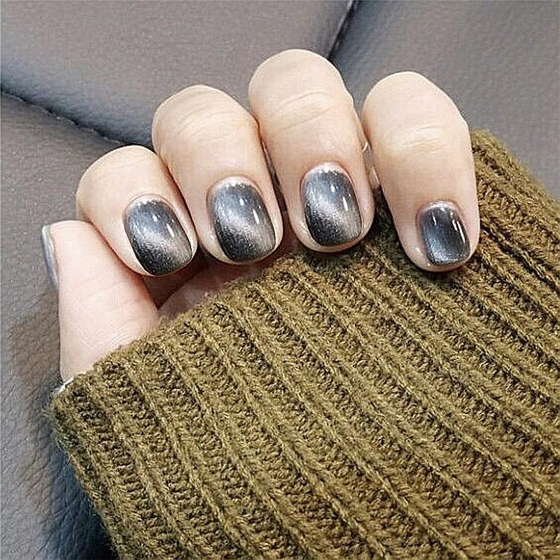 指甲貼片黑貓眼穿戴美甲成品新娘款甲片假指甲貼片美甲【買送6配件】