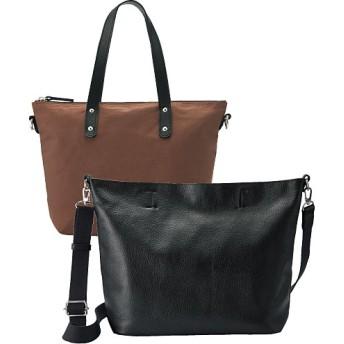 50%OFF本革5WAYバッグ(日本製) - セシール ■カラー:ブラック