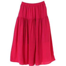 【Green Parks:スカート】ティアードギャザーロングスカート