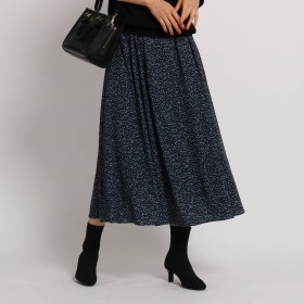[S]【WEB限定・マシンウォッシュ】レオパ風ロングスカート